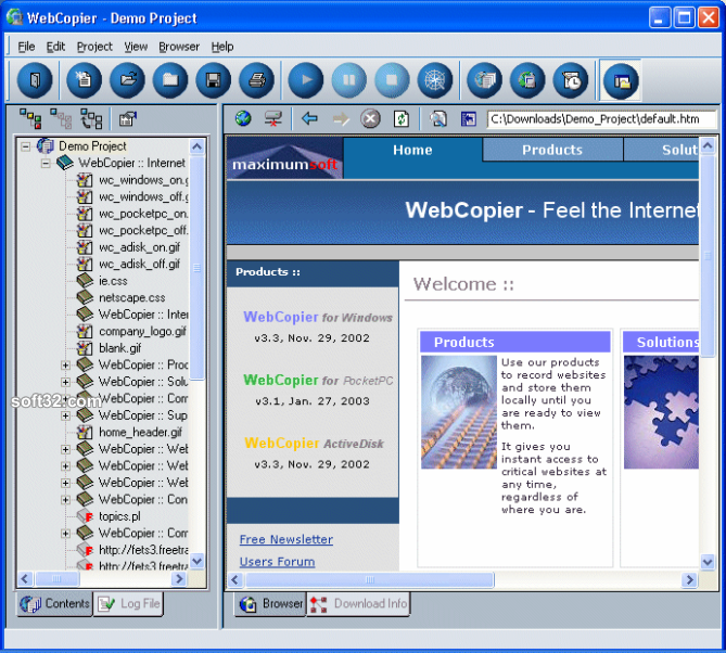 WebCopier 3.0.1 Screenshot 1