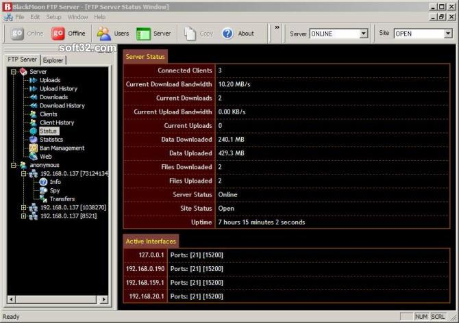 BlackMoon FTP Server Screenshot 3