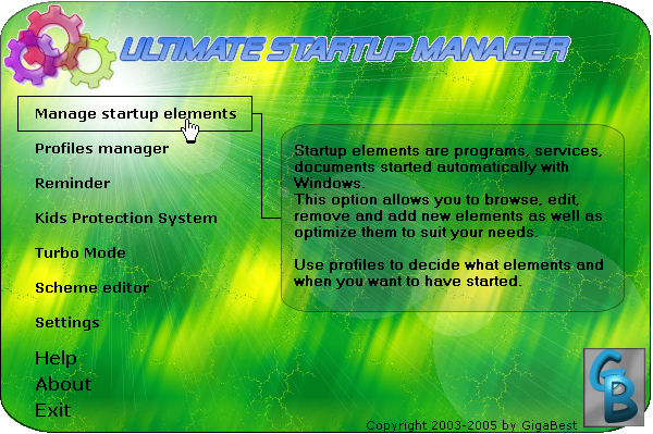 Ultimate Startup Manager for Windows Screenshot 1