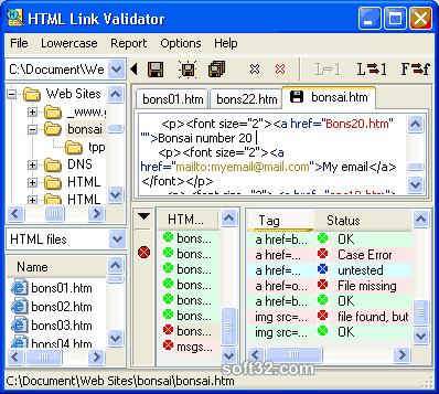 HTML Link Validator Screenshot 2
