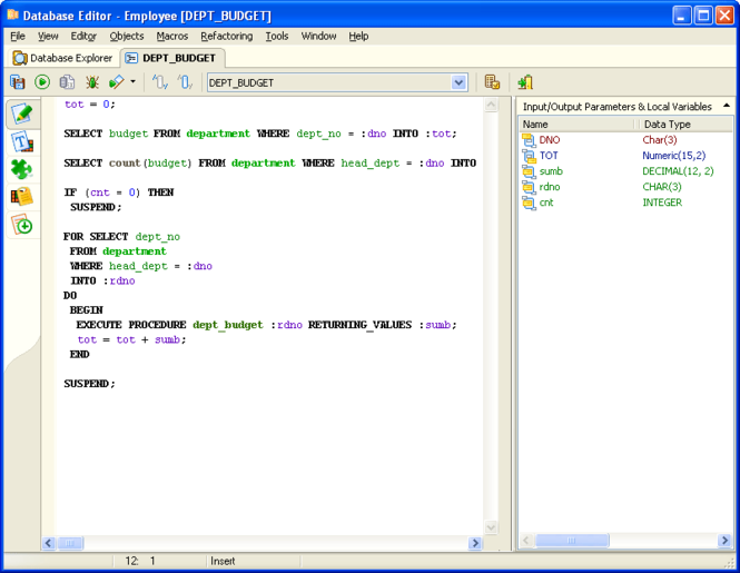 Interbase/Firebird Development Studio Screenshot 1