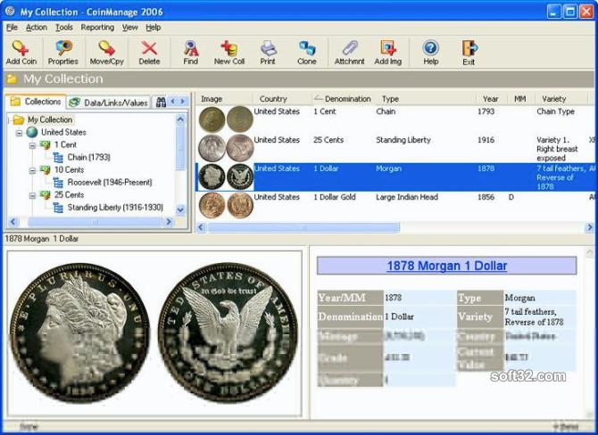 CoinManage Coin Collecting Software Screenshot 3