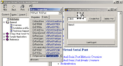 Virtual Serial Port ActiveX Control Screenshot