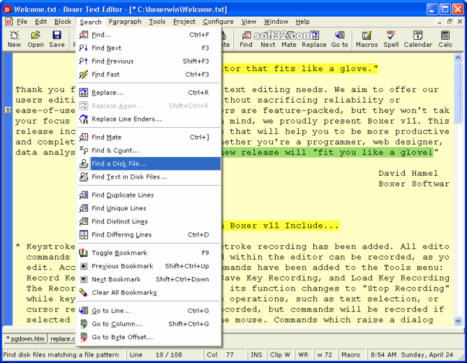 Boxer Text Editor Screenshot 3