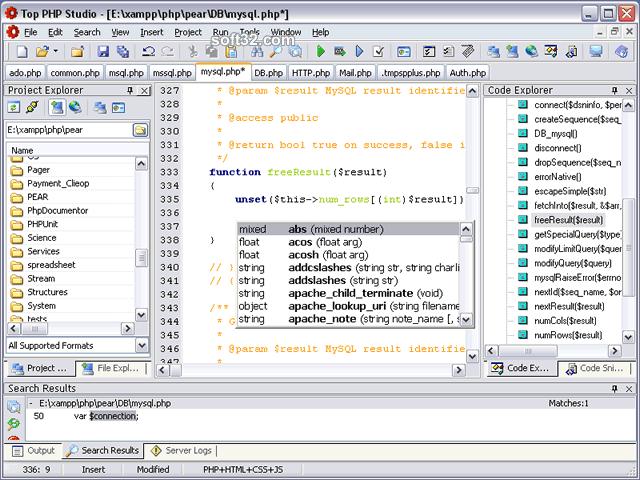 PHP Studio 2009 Screenshot 2