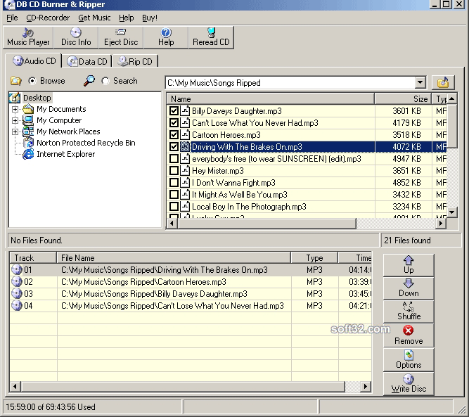 DB CD Burner & Ripper Screenshot 1