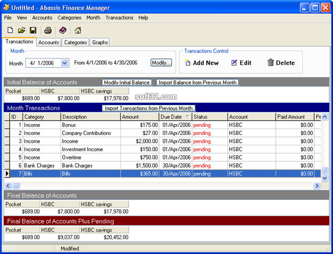 Abassis Finance Manager Screenshot 2