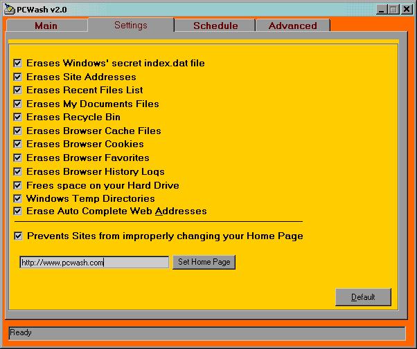 PCWash Screenshot