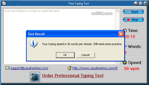 Free Typing Test Screenshot 2