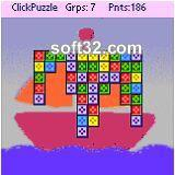 SoftAKGames ClickPuzzle for PalmOS Screenshot 1