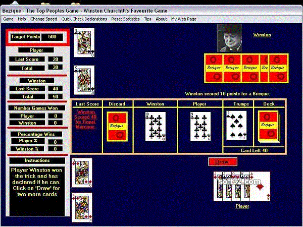Bezique Screenshot 1