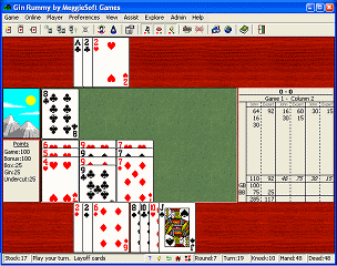 Gin Rummy by MeggieSoft Games Screenshot