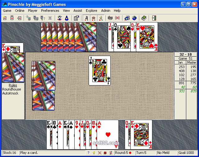 Pinochle and Bezique by MeggieSoft Gam Screenshot 3
