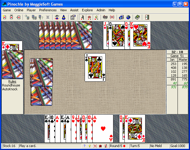 Pinochle and Bezique by MeggieSoft Gam Screenshot