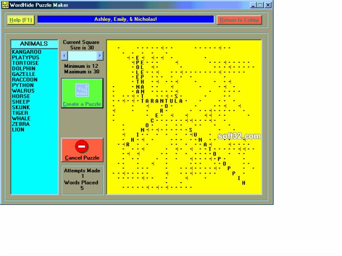 WordHide Screenshot 2