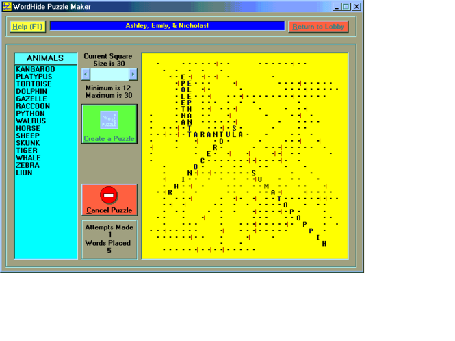 WordHide Screenshot