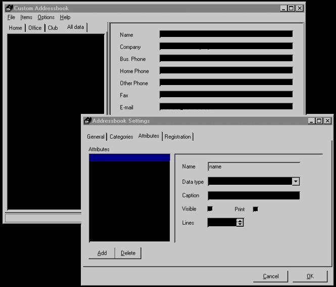 ! Custom Addressbook Lite Screenshot 1