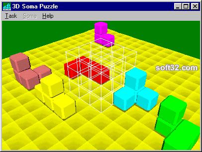 3D Soma Puzzle Freeware Screenshot 2