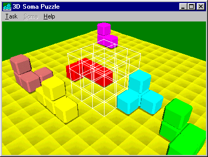 3D Soma Puzzle Freeware Screenshot