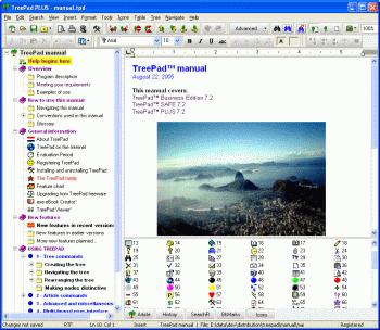 TreePad PLUS Screenshot 2