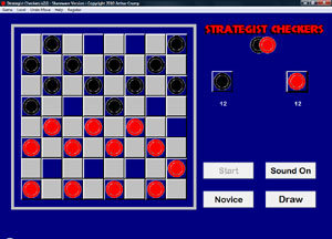 Strategist Checkers Screenshot