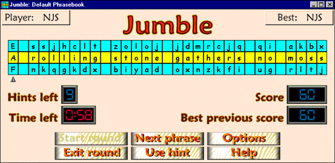 Jumble Screenshot