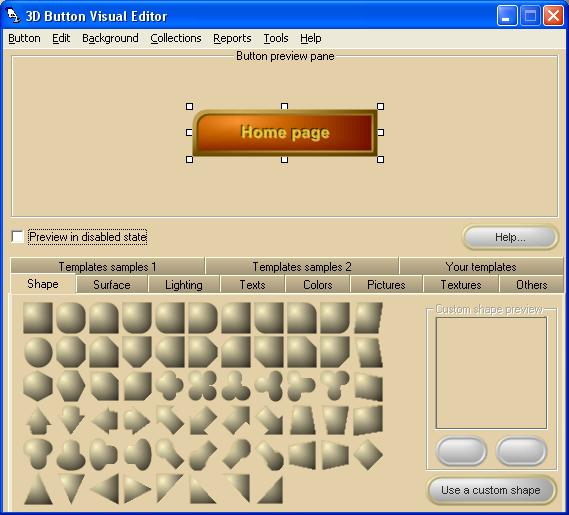 3D Button Visual Editor Screenshot 1
