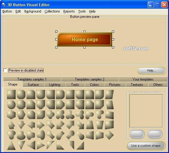 3D Button Visual Editor Screenshot 2