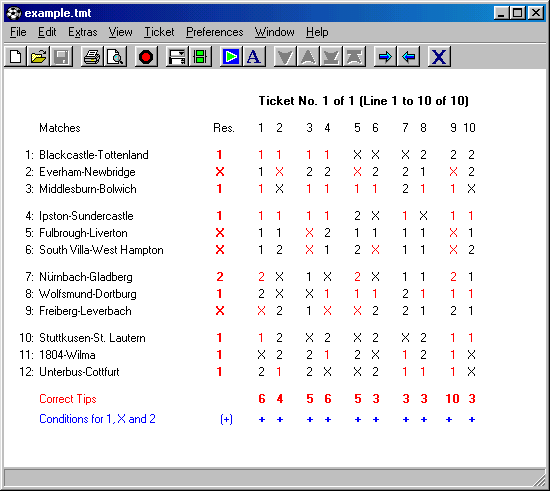 TotoCalculator 2 for Windows Screenshot