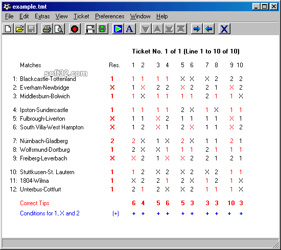 TotoCalculator 2 for Windows Screenshot 3