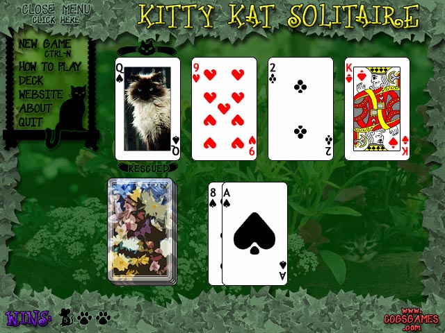 Kitty Kat Solitaire Screenshot 1