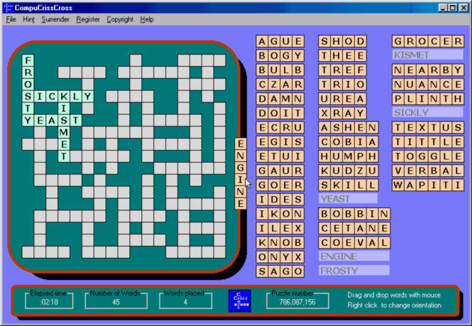 CompuCrissCross Screenshot