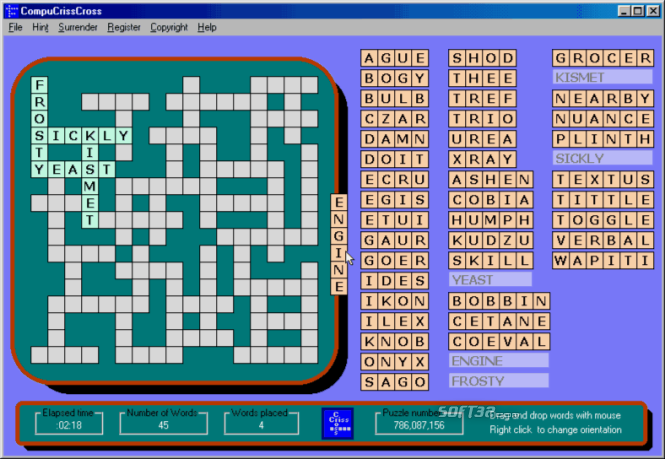 CompuCrissCross Screenshot 2
