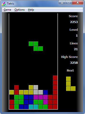 Tetris Screenshot 1