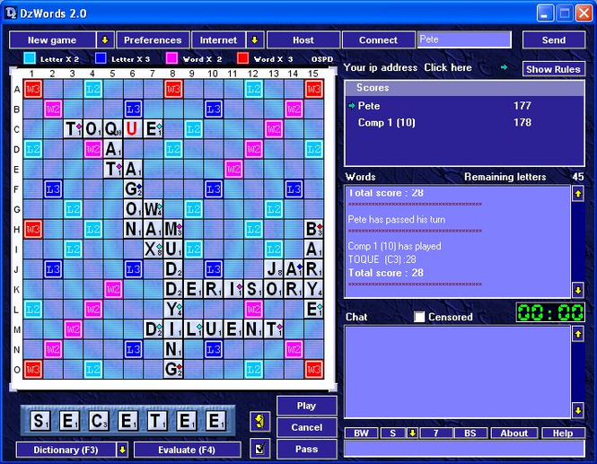 DzWords Screenshot 1