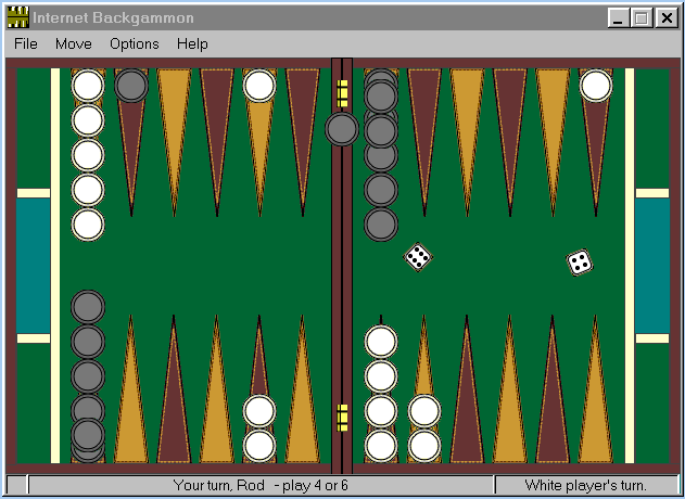 Internet Backgammon Screenshot
