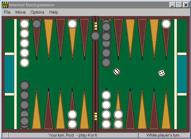 Internet Backgammon Screenshot 1