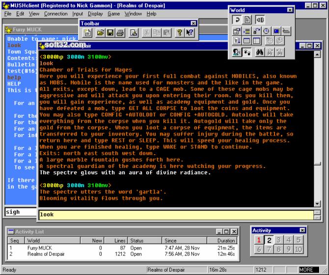 MUSHclient Screenshot 2