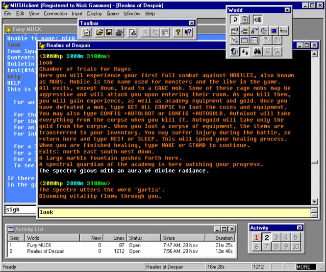 MUSHclient Screenshot 1