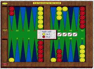 David's Backgammon Screenshot