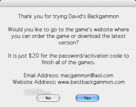 David's Backgammon(Mac) Screenshot 3