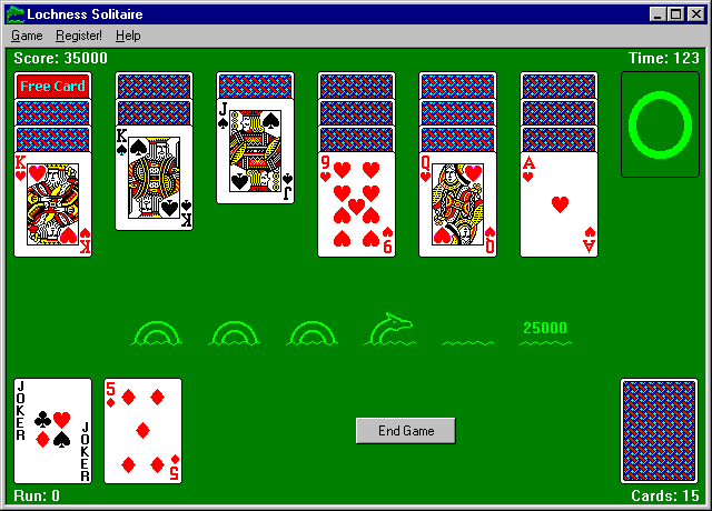 Lochness Solitaire Screenshot