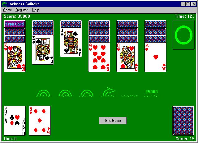 Lochness Solitaire Screenshot 1