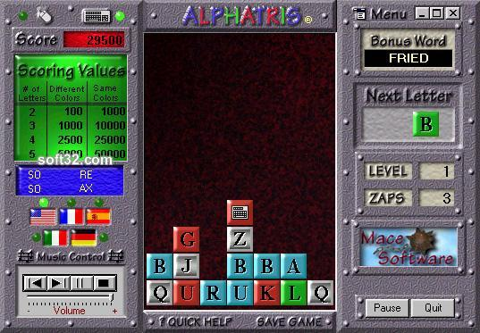 Alphatris Screenshot