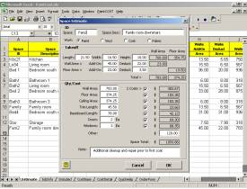 PaintCOST Estimator for Excel Screenshot