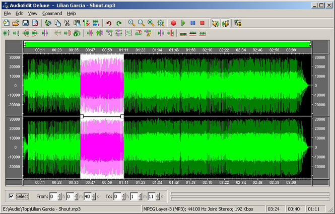 AudioEdit Deluxe Screenshot 1