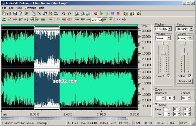 AudioEdit Deluxe Screenshot 3