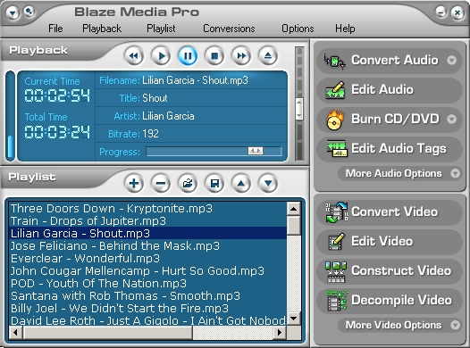 Blaze Media Pro Screenshot
