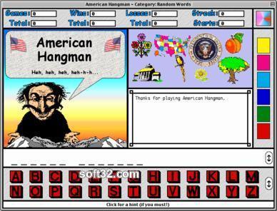 American Hangman - Presidents and States Screenshot 2