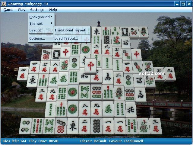 Amazing Mahjongg 3D Screenshot